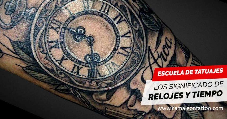El Significado Del Tiempo En Los Tatuajes Camaleon Tattoo