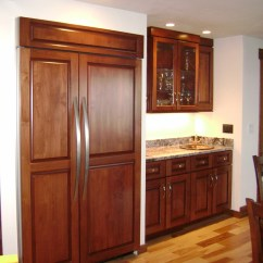 Built In Kitchen Cabinets Wall Coverings Refrigerators Parts Fridge