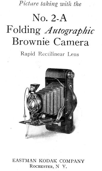 Kodak Brownie autographic No. 2a