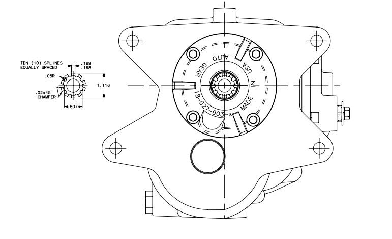 Brand New SUPERCASE M22 4-Speed Muncie Rockcrusher Style
