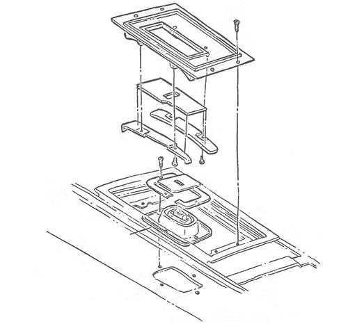 1967 Camaro Console Shift Plate Kit, Manual Transmission