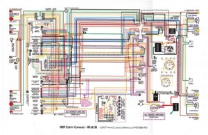 1967  81 Camaro Laminated Color Wiring Diagram 11