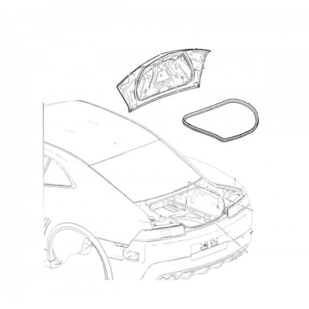 Camaro Trunk Weatherstrip Seal, 2010-2015