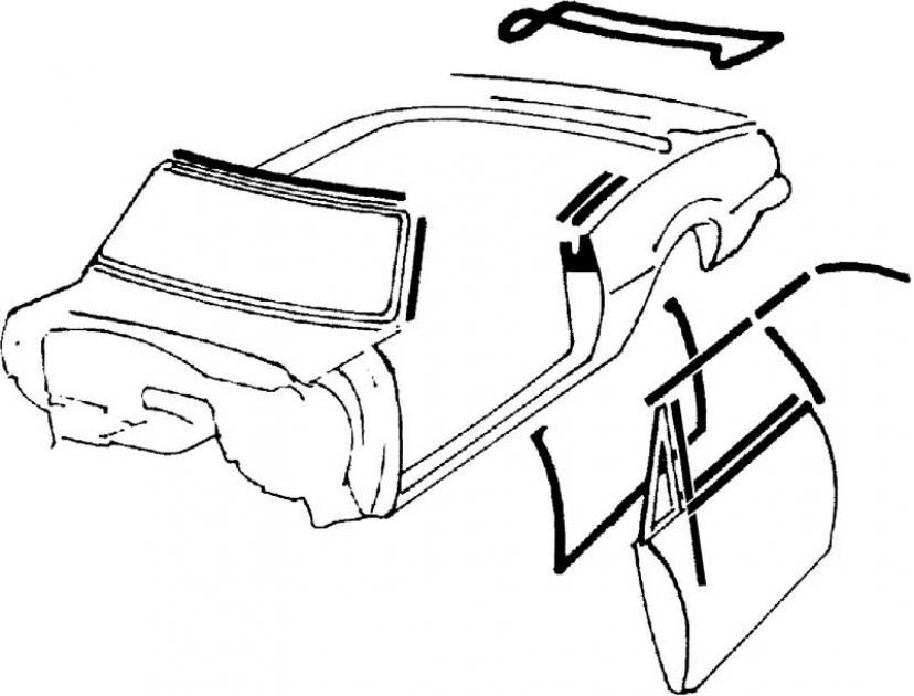 OER 1968-69 Camaro / Firebird Convertible Deluxe Interior