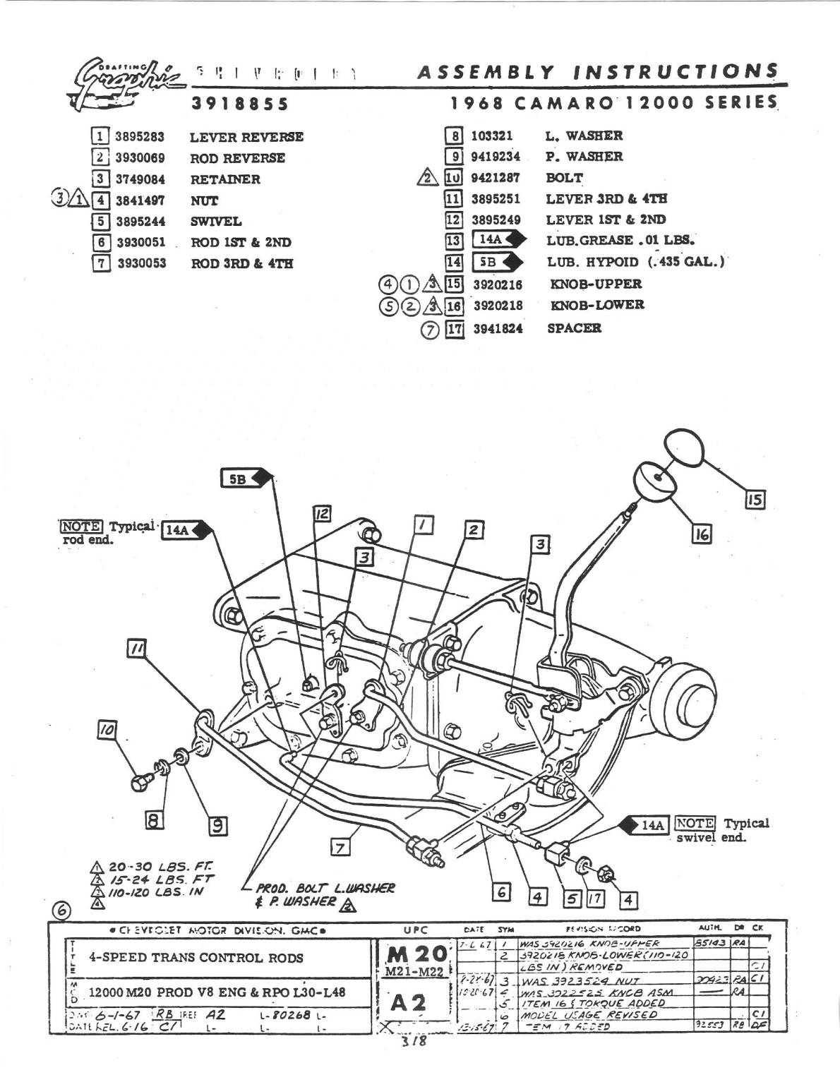 Muncie M20 Diagram