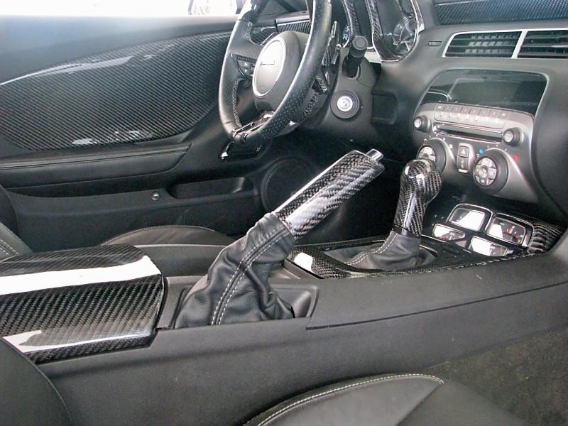 Interior 2010 11 Camaro Real Carbon Fiber Console Lid