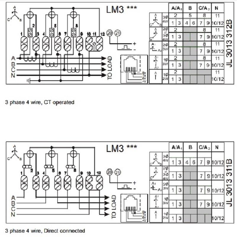 wiring diagram kwh 3 phase