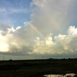 Rainbow over Kampong Chnam.
