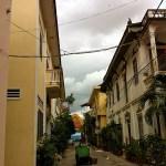 A broody sky over Wat Ounaloum.