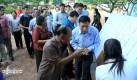 Heng Samrin Votes in Tbong Khmum Province