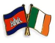 Cambodian & Irish Flags