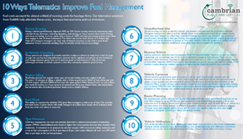 10 Ways Telematics Improves Fuel Management – Infographic