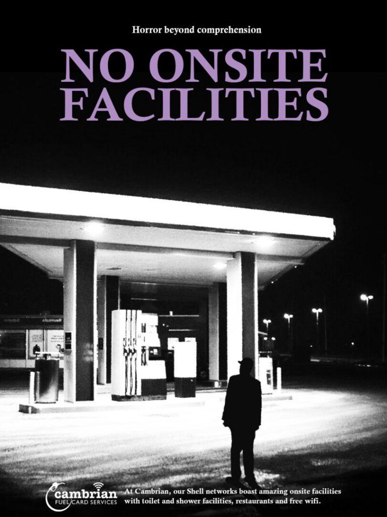 no onsite facilities poster