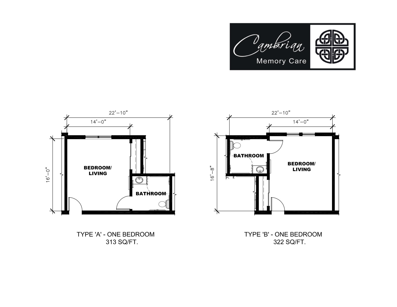 Tecumseh Memory Care Floor Plan View Two : Cambrian Senior
