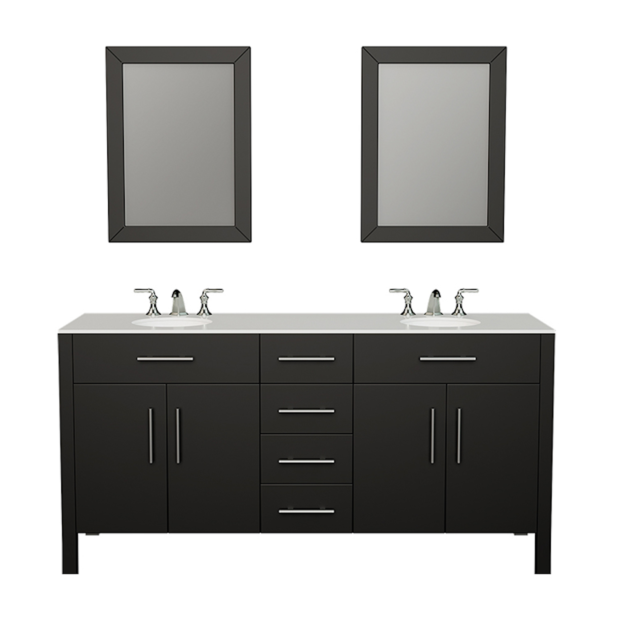 espresso double basin sink solid oak