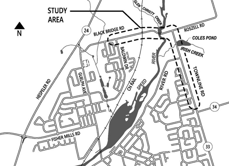 Black Bridge Road, Townline Road and New Bridge Structure
