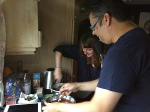 Adam making a chocolate and orange ganache