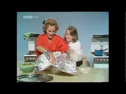 Fanny cooking her Christmas turkey