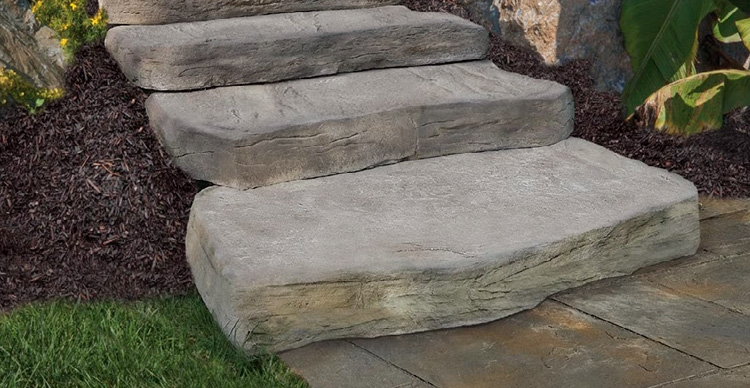Steps Stairs Cambridge Pavingstones Outdoor Living Solutions   Best Stone For Outdoor Steps   Concrete Steps   Garden   Stair Tread   Limestone   Natural Stone