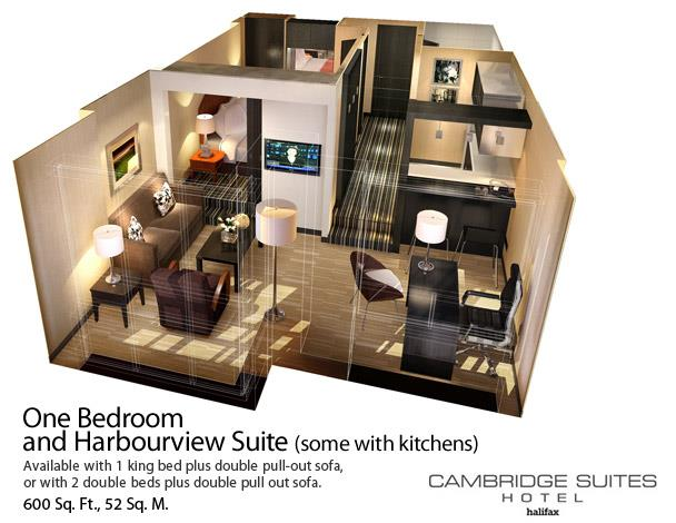 hotel with living room modern tv and fireplace cambridge suites halifax one bedroom