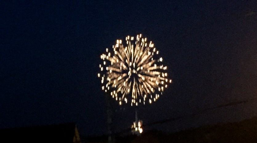 4th of July fireworks from 2nd level deck