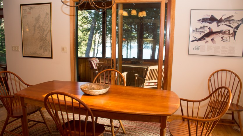 Dining area with lake views