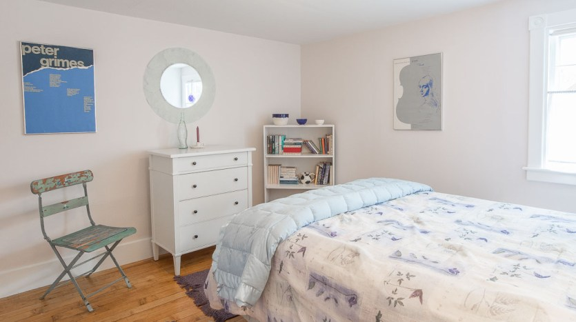 Guest bedroom with full bed