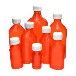 16 oz Amber Oval Bottles