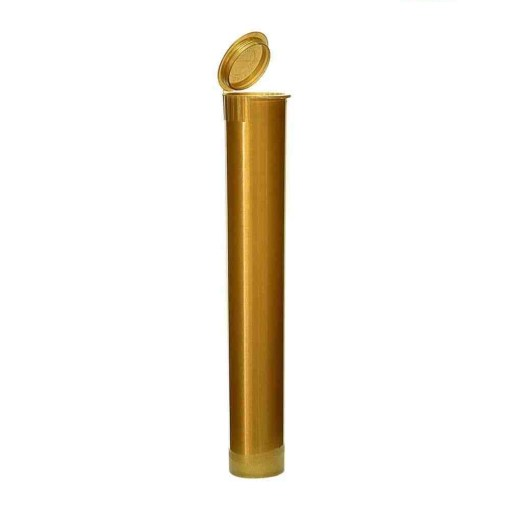 116mm Opaque Gold Child-Resistant Pre-Roll Tubes