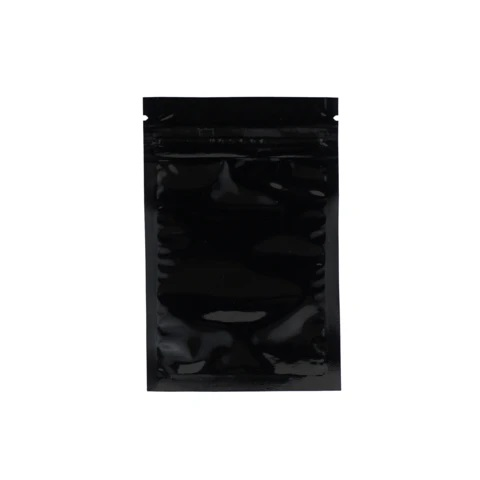 1 Gram Black Clear Mylar Smell Proof Bags