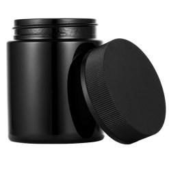 Black Child Resistant Glass Jars 4 oz