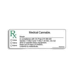 Medical Labels Glossy California