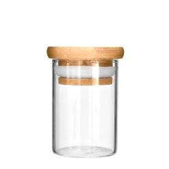 4 oz Glass Jars Wooden Lid