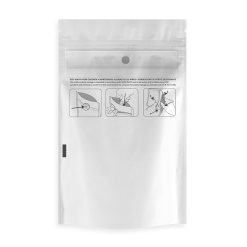 Child Resistant White Dymapak Bags 1/8 Ounce