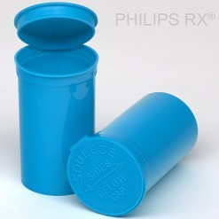 PHILIPS RX 19 Dram Opaque Blueberry Pop Top Containers