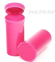 13 Dram Opaque Bubblegum PHILIPS RX® Pop Top Containers
