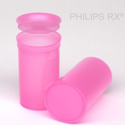 19 Dram Translucent Pink PHILIPS RX® Pop Top Containers