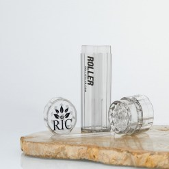 High Roller Grinder and 84mm Cone Filler Clear
