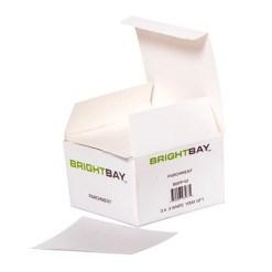 Parchment Paper 3 X 3 White