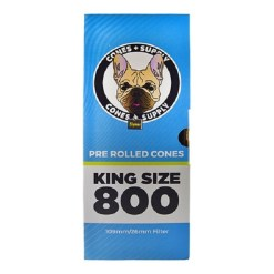 CONES + SUPPLY 109mm Pre-Rolled Cone King Size White