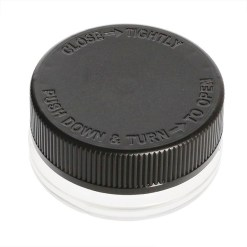 Child Resistant Thick Wall Glass Concentrate Container 15ML Black Cap