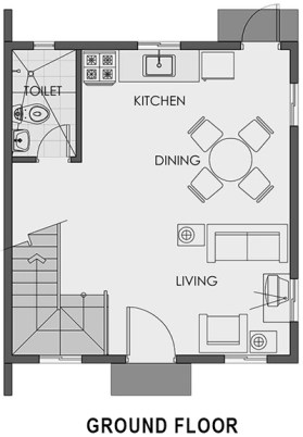 camella capiz cara ground floor plan