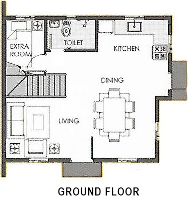 camella palawan dana ground floor plan