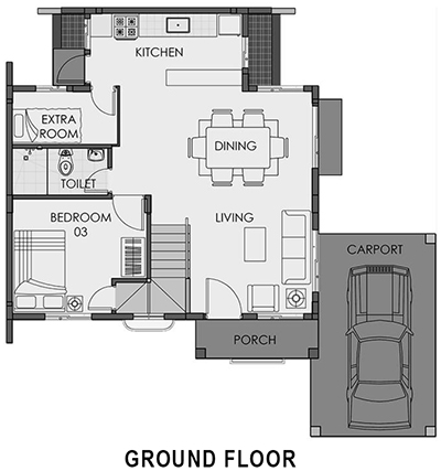 camella pili freya ground floor plan