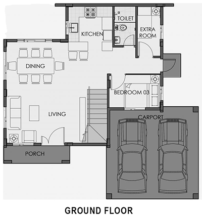 camella palawan greta ground floor plan