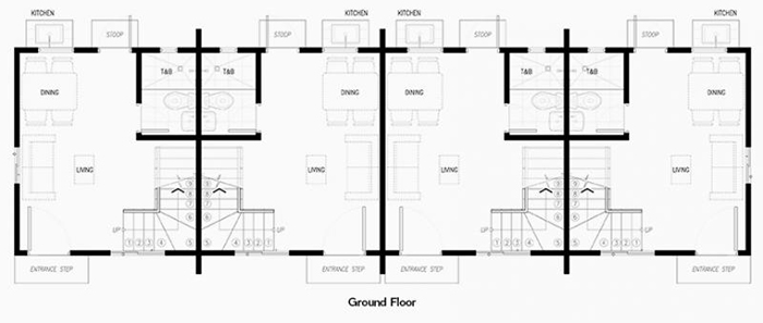 arielle townhouse ground floor plan