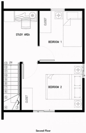 frielle house second floor plan