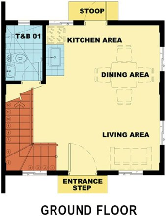 camella carson bella ground floor plan