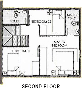 camella carson dana second floor plan