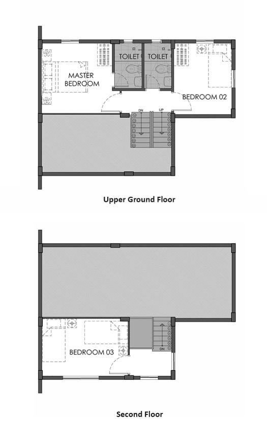 camella homes jana downhill second floor plan